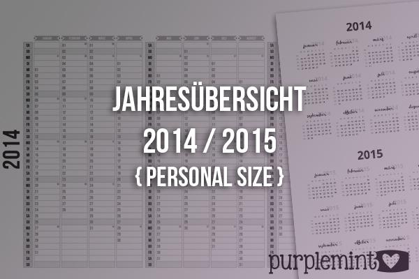 Black Planner Kit // Jahresübersicht 2014/2015 Personal