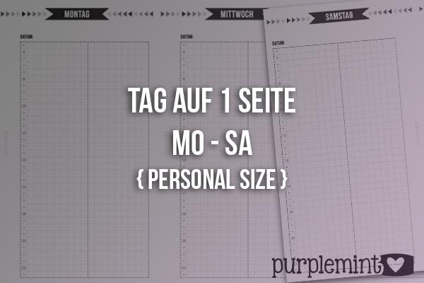 Black Planner Kit // Tag auf 1 Seite (Mo-Sa)