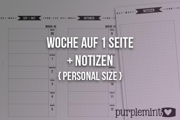 Black Planner Kit // Woche auf 1 Seite - Personal