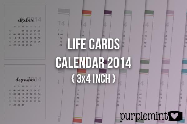 Life Cards: Calendar 2014