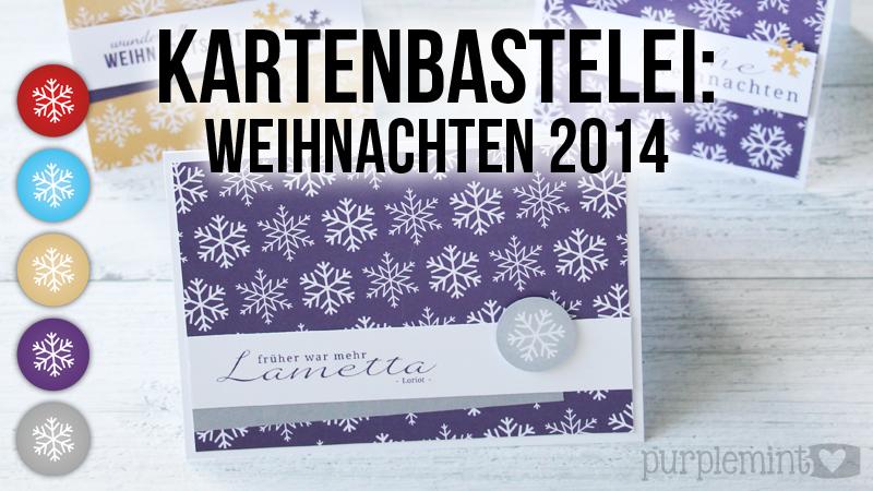 Kartenbastelei: Weihnachten 2014 & Freebie [BlogBoard Adventskalender]