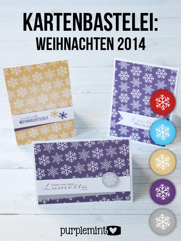 Kartenbastelei: Weihnachten 2014