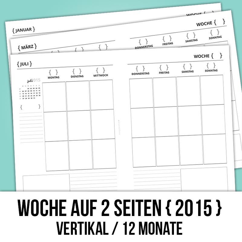 Woche auf 2 Seiten // wo2p // A5 // vertikal
