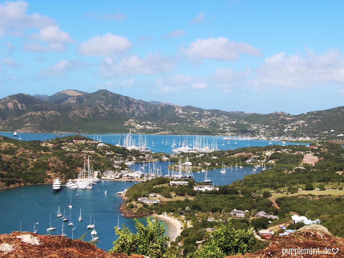 AIDA Karibik - Antigua // Aussichtspunkt mit Blick auf English Harbour