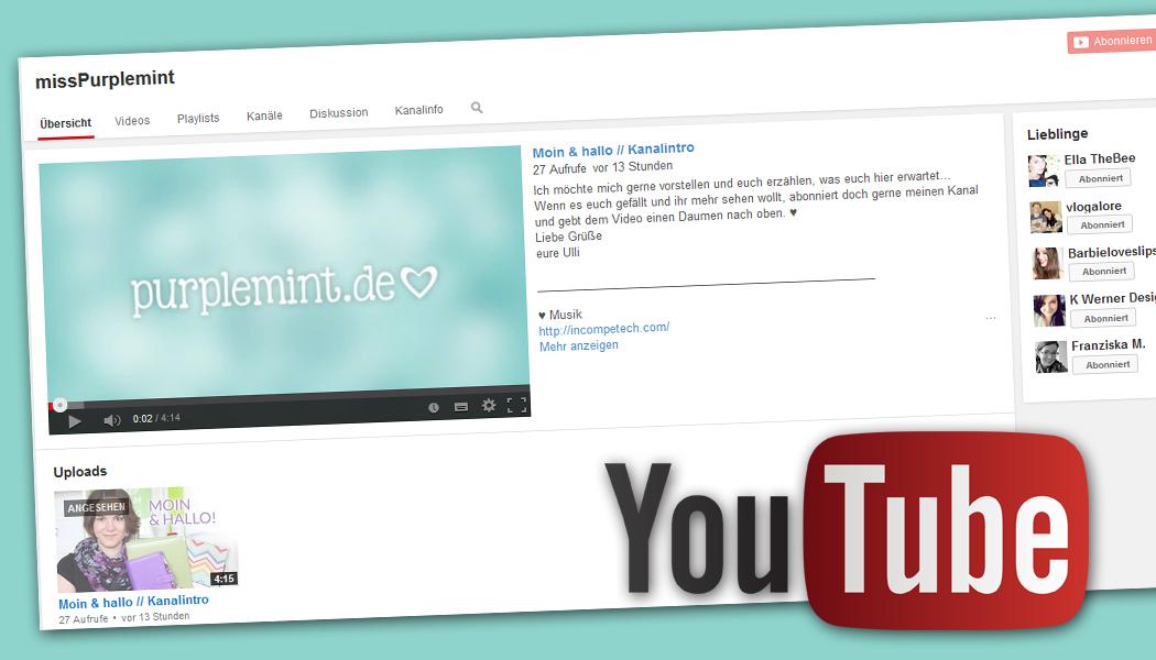 Neuer Youtube-Kanal // 1. Video online…