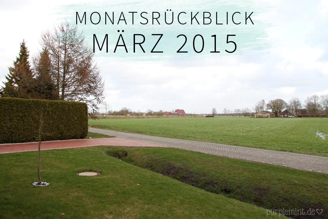 Monatsrückblick - März 2015