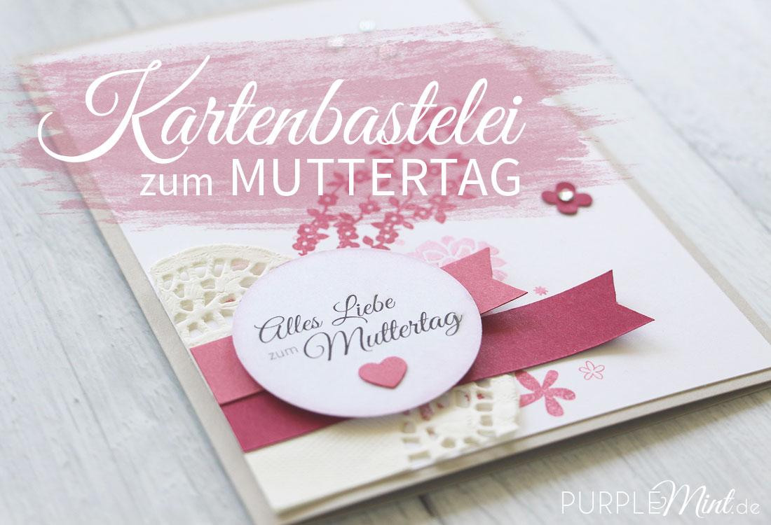 Kartenbastelei zum Muttertag