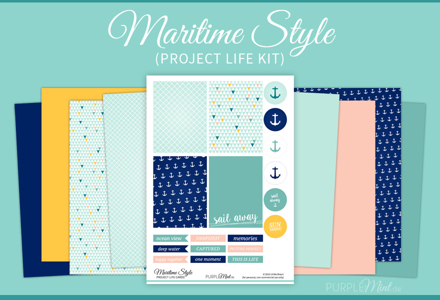 Project Life Kit – Maritime Style (Free Printable)