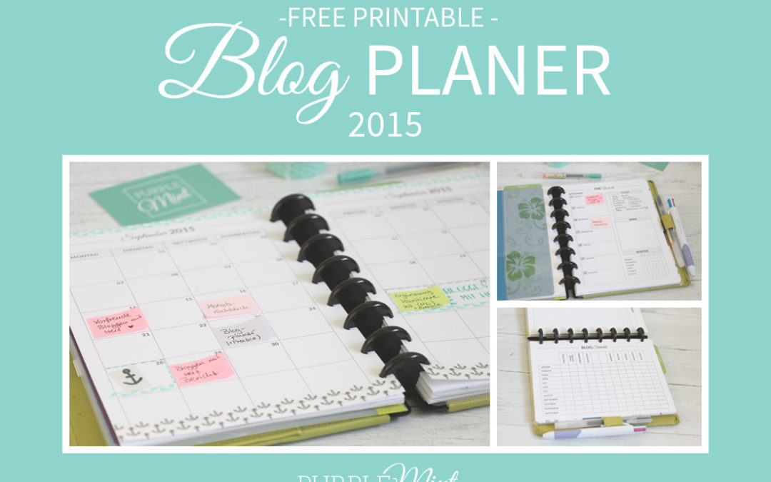 (organisiert) Mein Blogplaner – mit Freebie