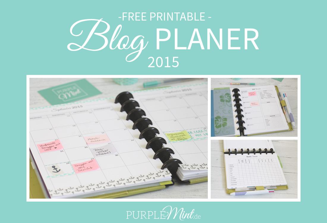 Blogplaner Freebie deutsch mit Monatsübersicht und Wochenplan