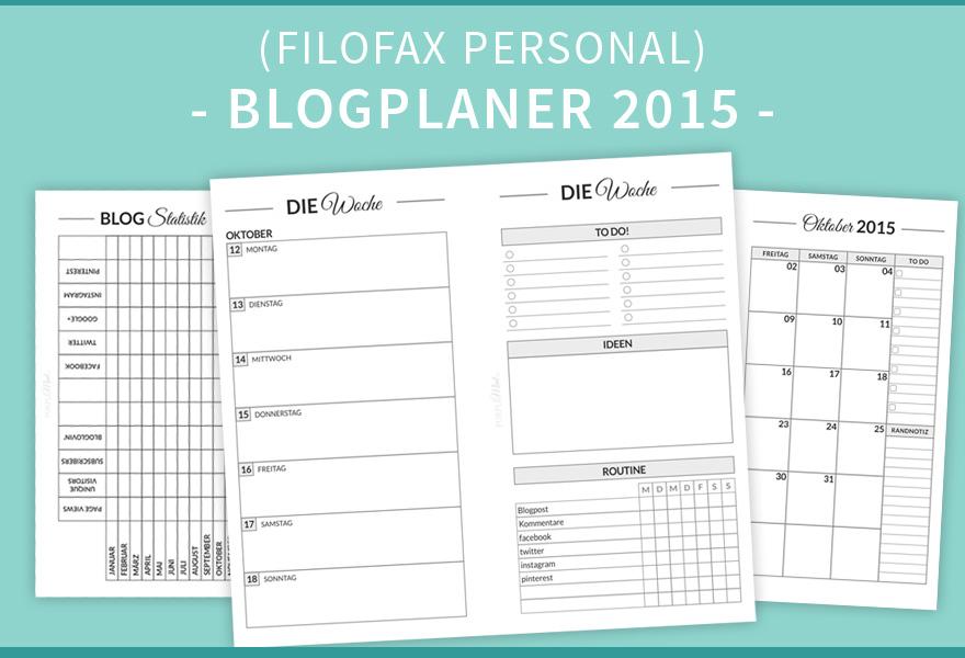 Blogplaner 2015 in Personal Size (Filofax)