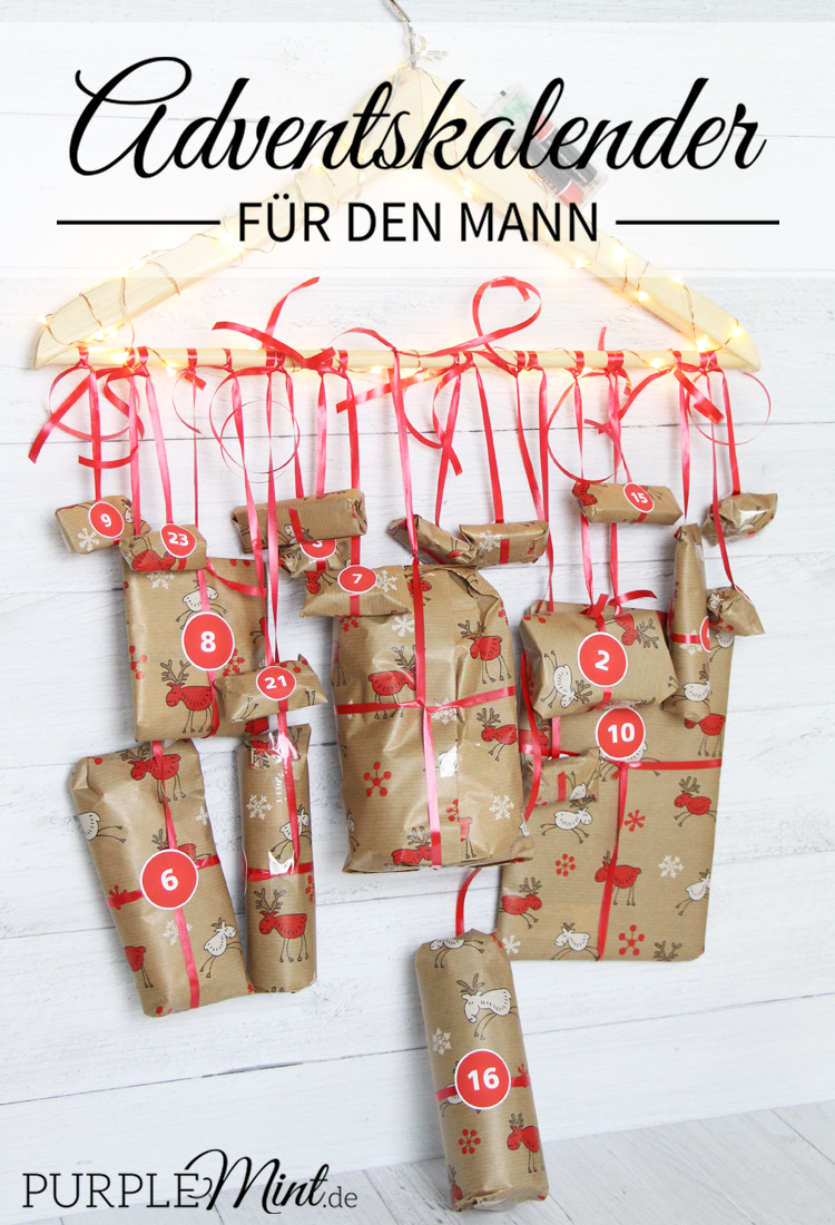 diy adventskalender f r den mann purplemint. Black Bedroom Furniture Sets. Home Design Ideas