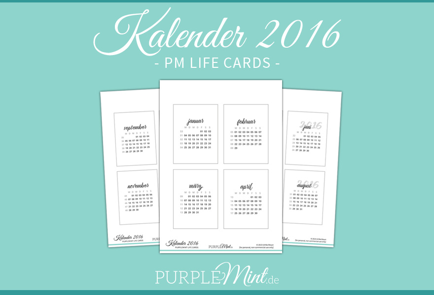PM Life Cards – Kalender 2016 [freebie]