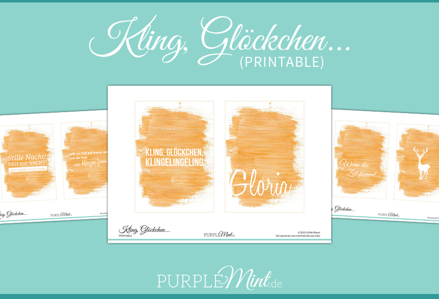 (Printable) Kling, Glöckchen // Freebie // Gold