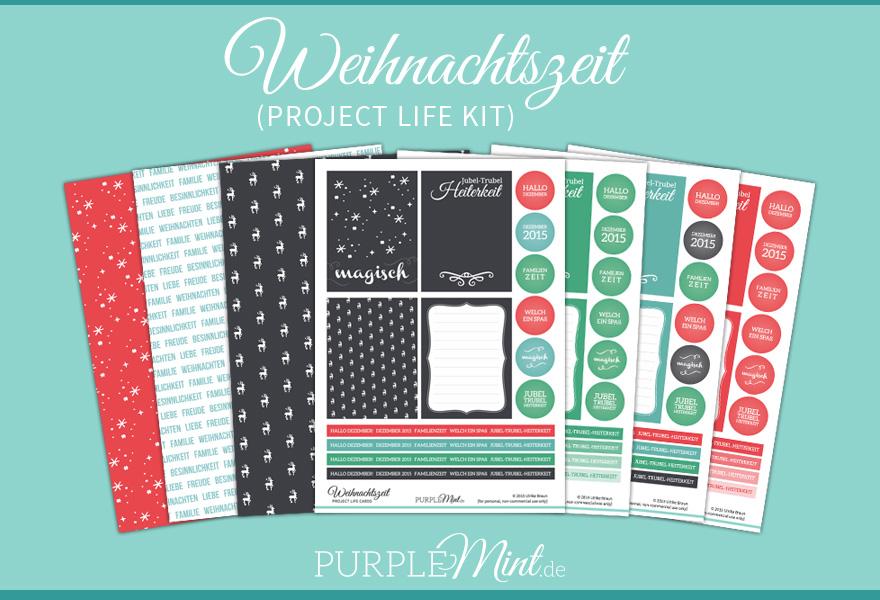 Project Life Karten – Weihnachtszeit (FREEBIE) #maluAdvent