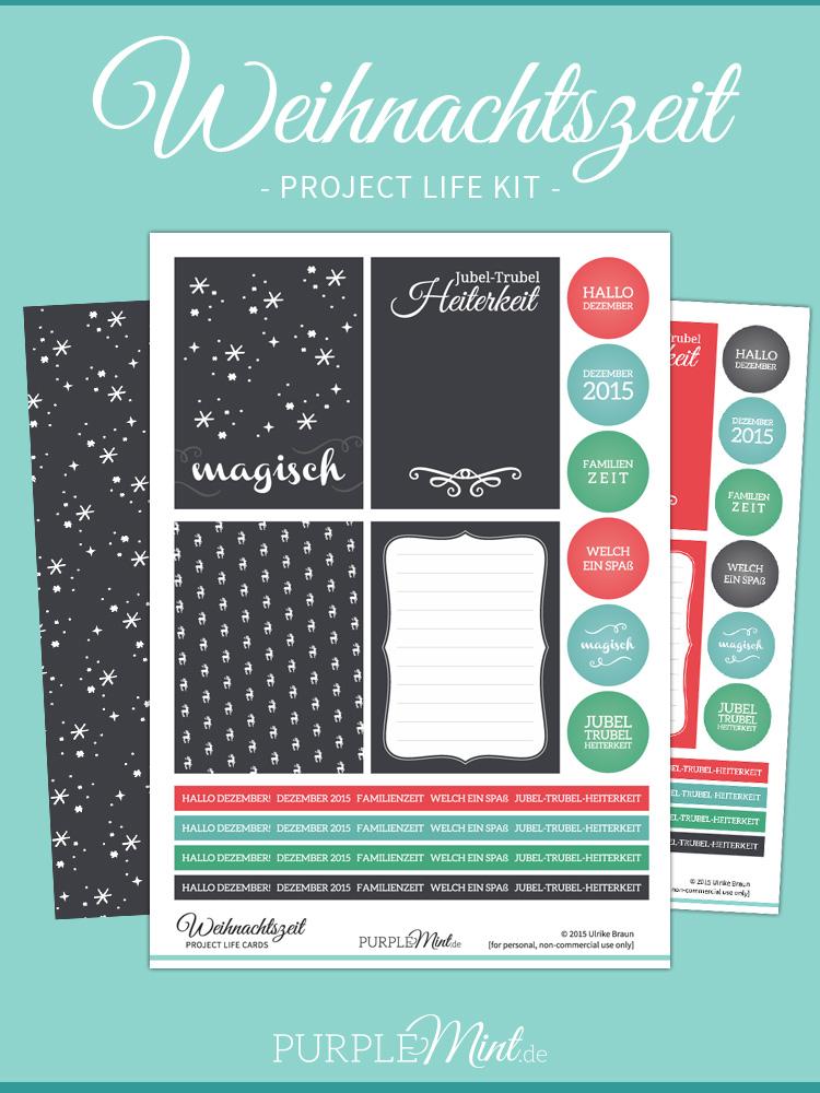 Project Life Kit - Weihnachtszeit - Free Printable