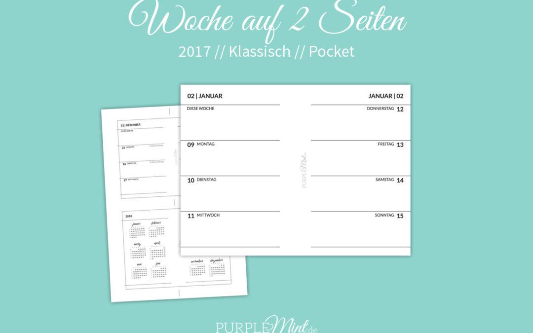 Wo2p klassisch – Woche auf 2 Seiten // Pocket [freebie]