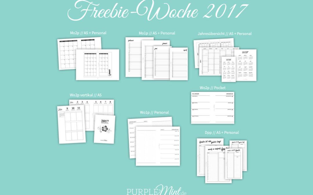 Kalender 2017 // Freebie-Woche