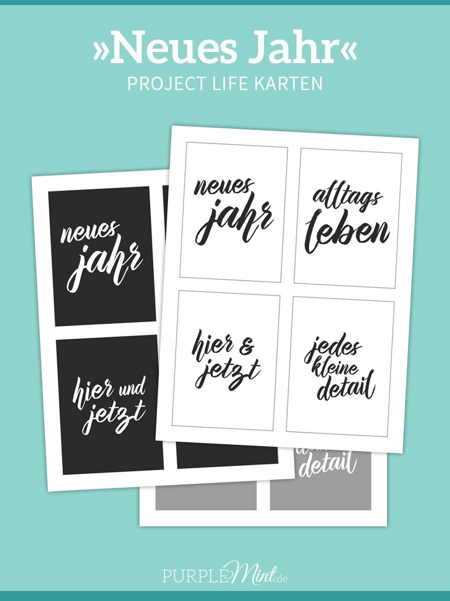 Project Life Freebie - PL-Karten - Neues Jahr