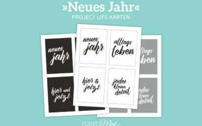 Project Life Karten – Neues Jahr [freebie]