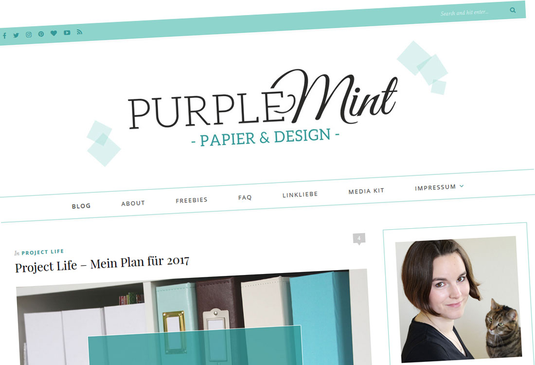 Purplemint - Neues Blogdesign - Premium Theme