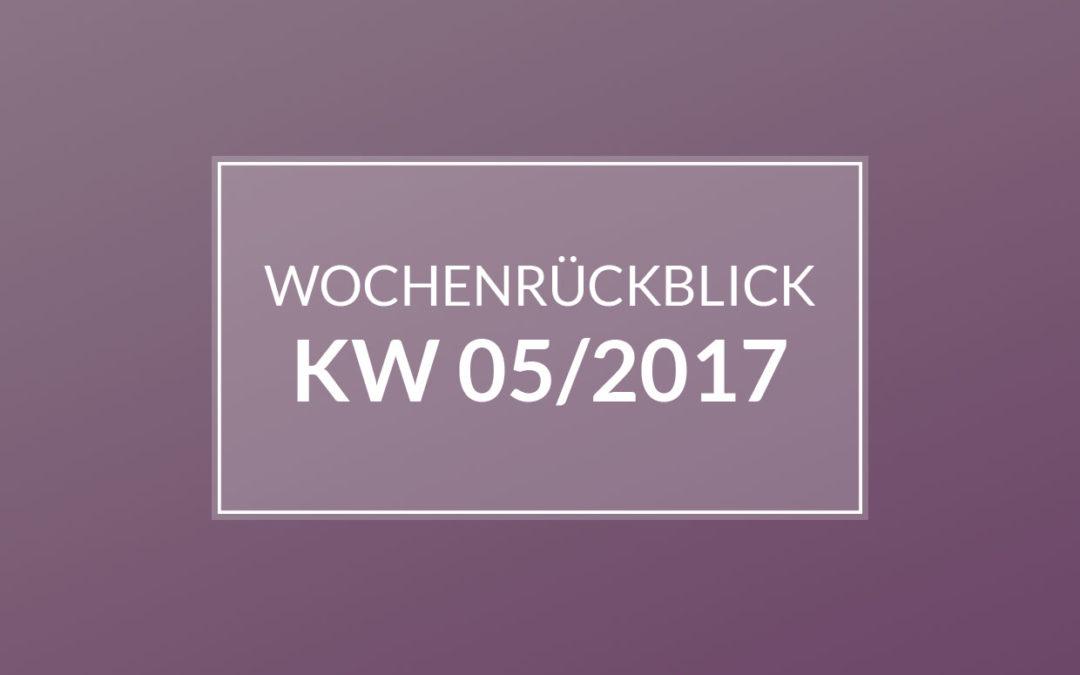 KW 05/2017 – Nähen. Shoppen in Emden. Krank sein…