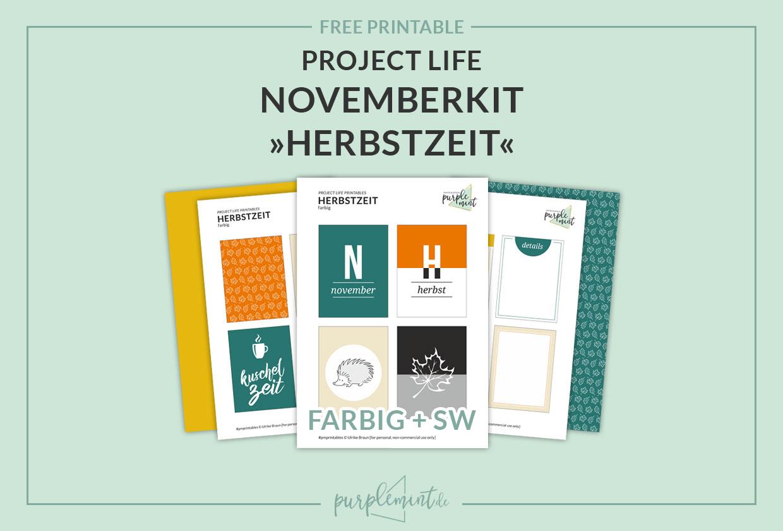 Project Life Printables – Herbstzeit – Novemberkit [freebie]