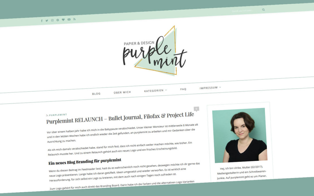 Purplemint RELAUNCH – Bullet Journal, Filofax & Project Life