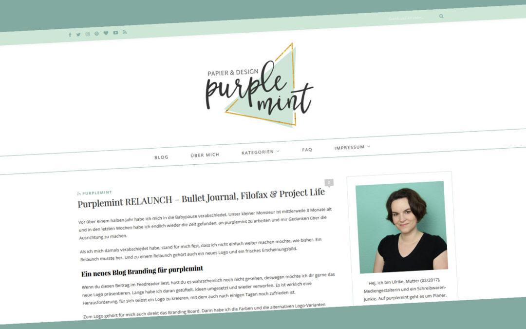 Purplemint RELAUNCH – Bullet Journal, Filofax & Project Life